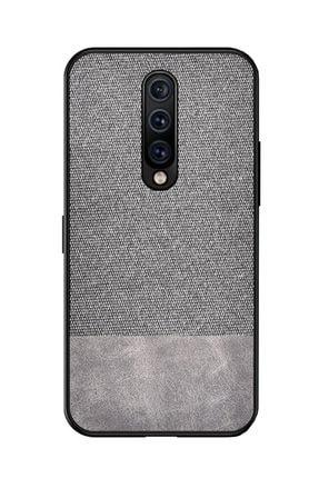 Microcase Xiaomi Mi9t - Mi9t Pro Fabrik Serisi Kumaş Ve Deri Desen Kılıf - Gri
