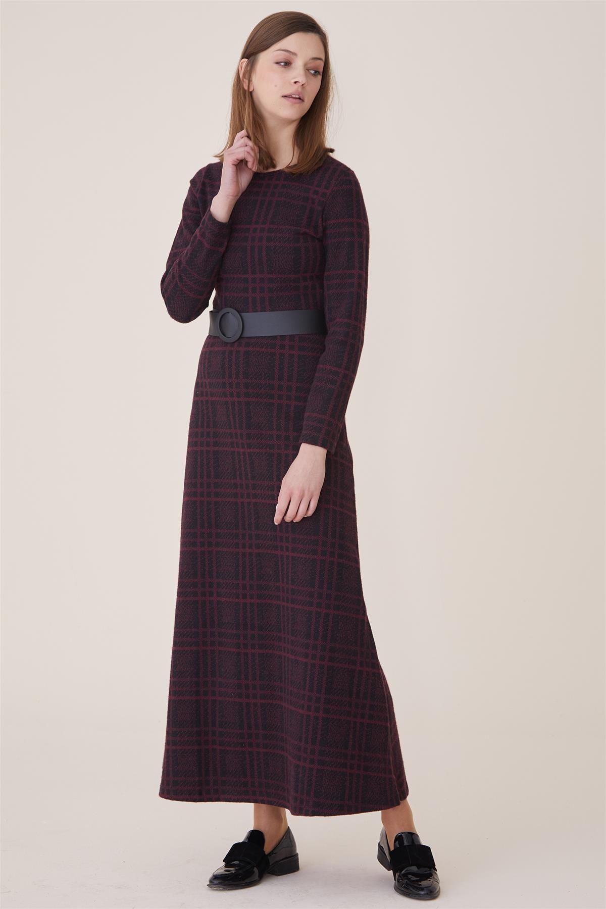 Nassah Kadın Bordo Elbise Nassah-UU-9W6070 2