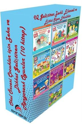 Ekinoks Yayın Grubu Okul Öncesi Çocuklar için Zeka ve Dikkat Geliştiren Rengarenk Oyunlar (10 Kitap Takım) - Bahar Çelik