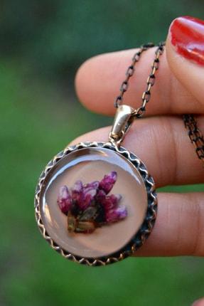 Stoneage Jewellery Kuru Çiçek Kadın Kolye
