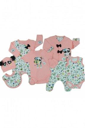 İmaj Gökkuşağı Panda Kız Bebek 8'li Zıbın Takımı