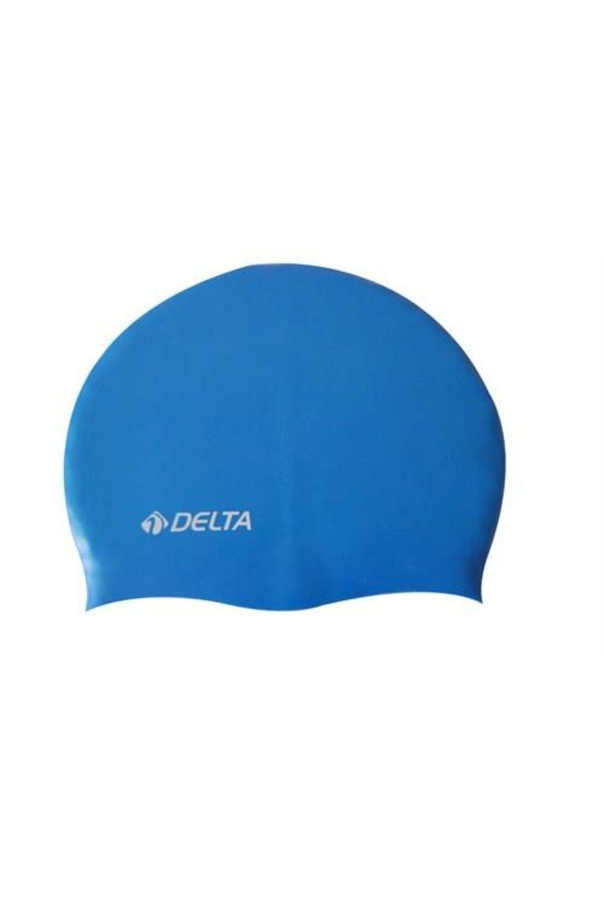 Delta Silikon Bone 10 Adet Yüzücü Havuz Deniz Bonesi (Düz Renk) 1