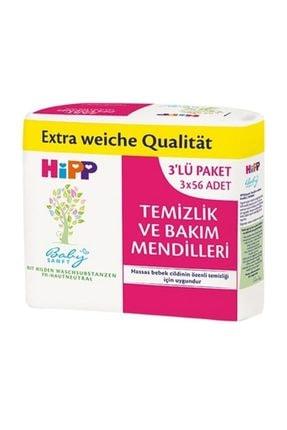 Hipp Temizlik ve Bakım Islak Mendil 3'lü Paket 168 Yaprak
