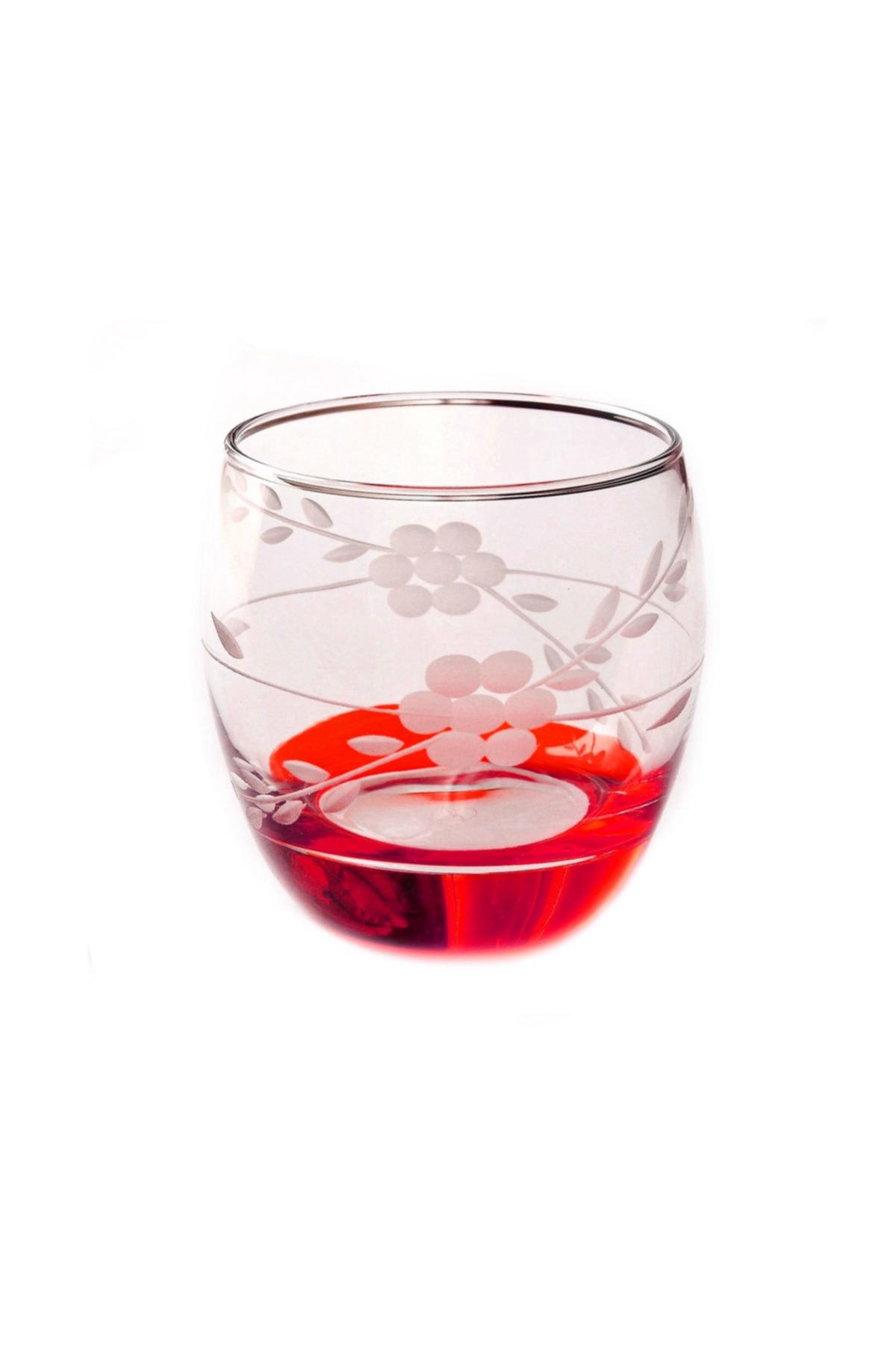 BAŞAK Paşabahçe 41010 Papatya Kırmızı   Barel Su-meşrubat Bardağı 6 Adet 1