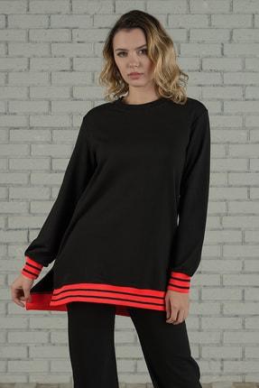 Runever Kadın Oranj Şeritli Tunik Takım