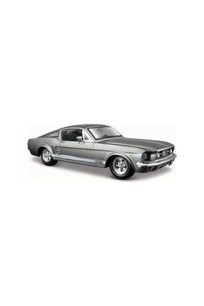 Maisto 1967 Ford Mustang Gt Gri 1:24 Diecast Model Araba