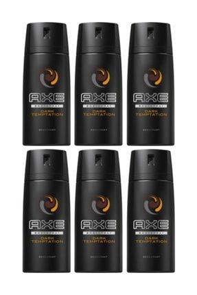 Axe Erkek Deodorant Sprey Dark Temptation 150 ml X 6