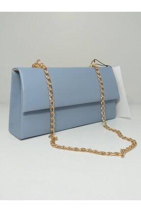 dizaynbag Kadın Mavi Zincir Askılı Çanta