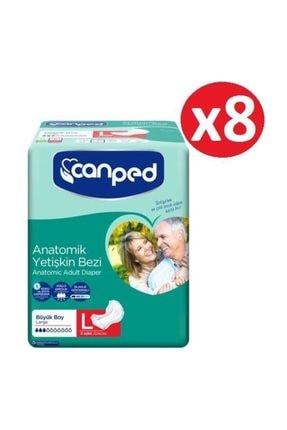 Canped Anatomik Hasta Bezi Large 64 Adet (8'li X 8)