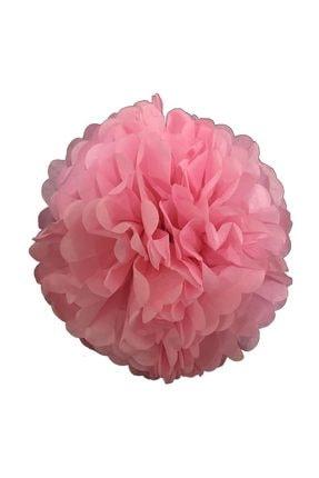 Parti dolabı 1 Ad Açık Pembe Ponpon Gramafon Çiçek Kağıt Doğum Günü Parti Süsü
