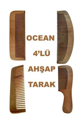 Ocean Ahşap Tarak Seti 4 Lü