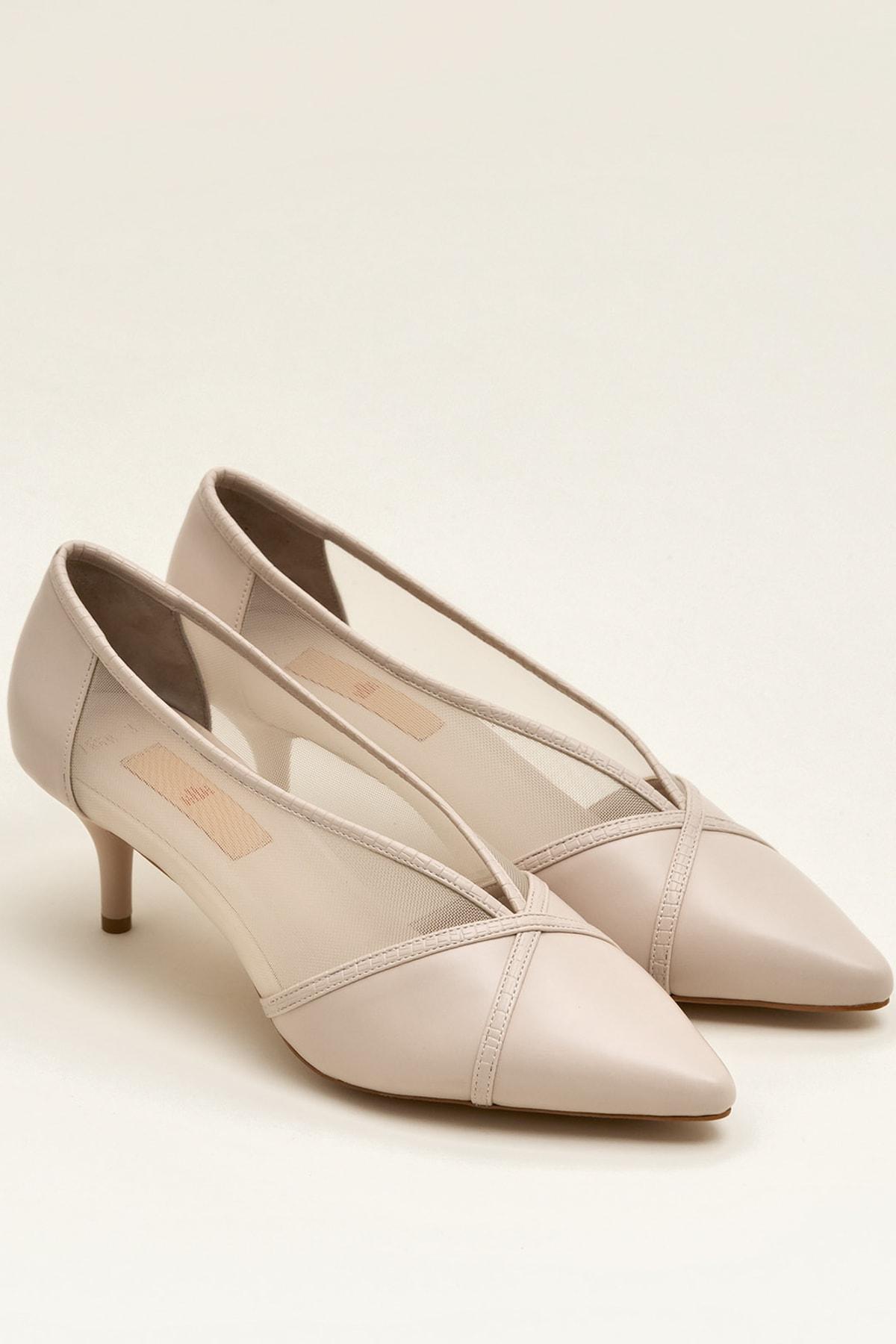 Elle Shoes MIKENNAA Bej Kadın Ayakkabı 2