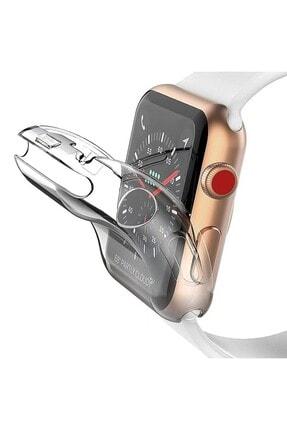 GREGOSS Apple Watch 1 2 3 4 5 6 Se Uyumlu Silikon Kılıf 42mm Şeffaf Watch Tam Koruma