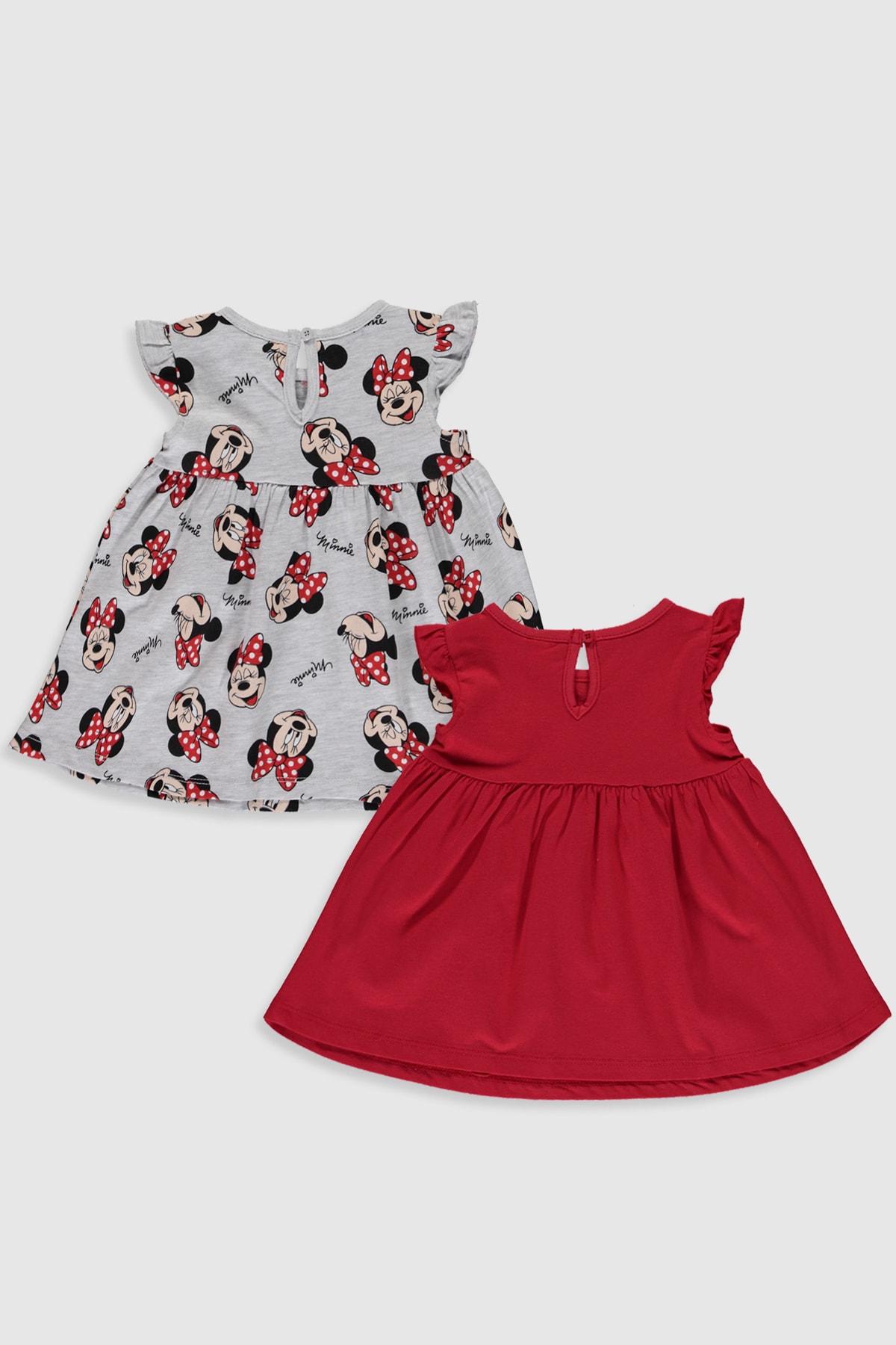 LC Waikiki Minnie Mouse Kız Bebek Canlı Kırmızı Hc3 Bebek Takımları 2
