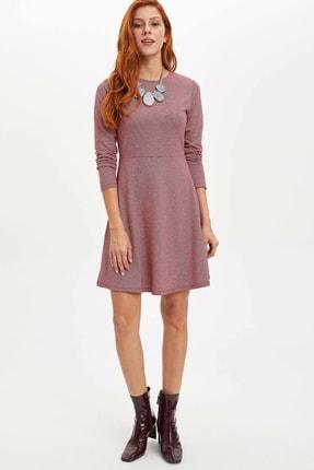 DeFacto Kadın Bordo Örme Elbise N0323AZ.20SP.BR229
