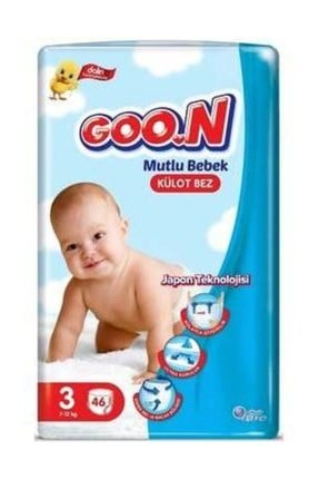 Dalin Goo.n Mutlu Bebek Külot Bez Jumbo 3 Beden 46 Adet