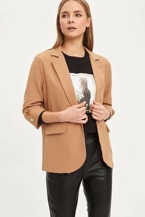 DeFacto Kadın Bej Regular Fit Basic Blazer Ceket N1286AZ.20SP.BG630