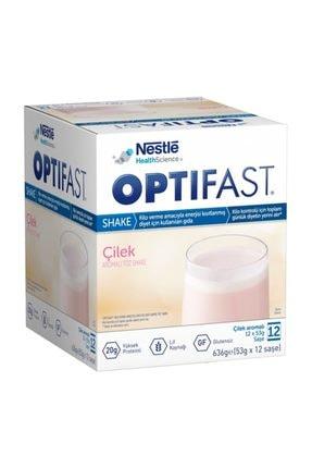 Nestle Optifast Milk Shake Çilekli 12 Saşe