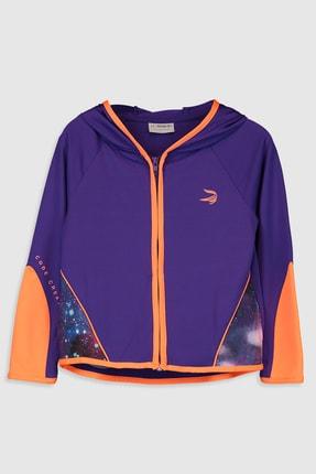 LC Waikiki Kız Çocuk Mor Q10 Sweatshirt