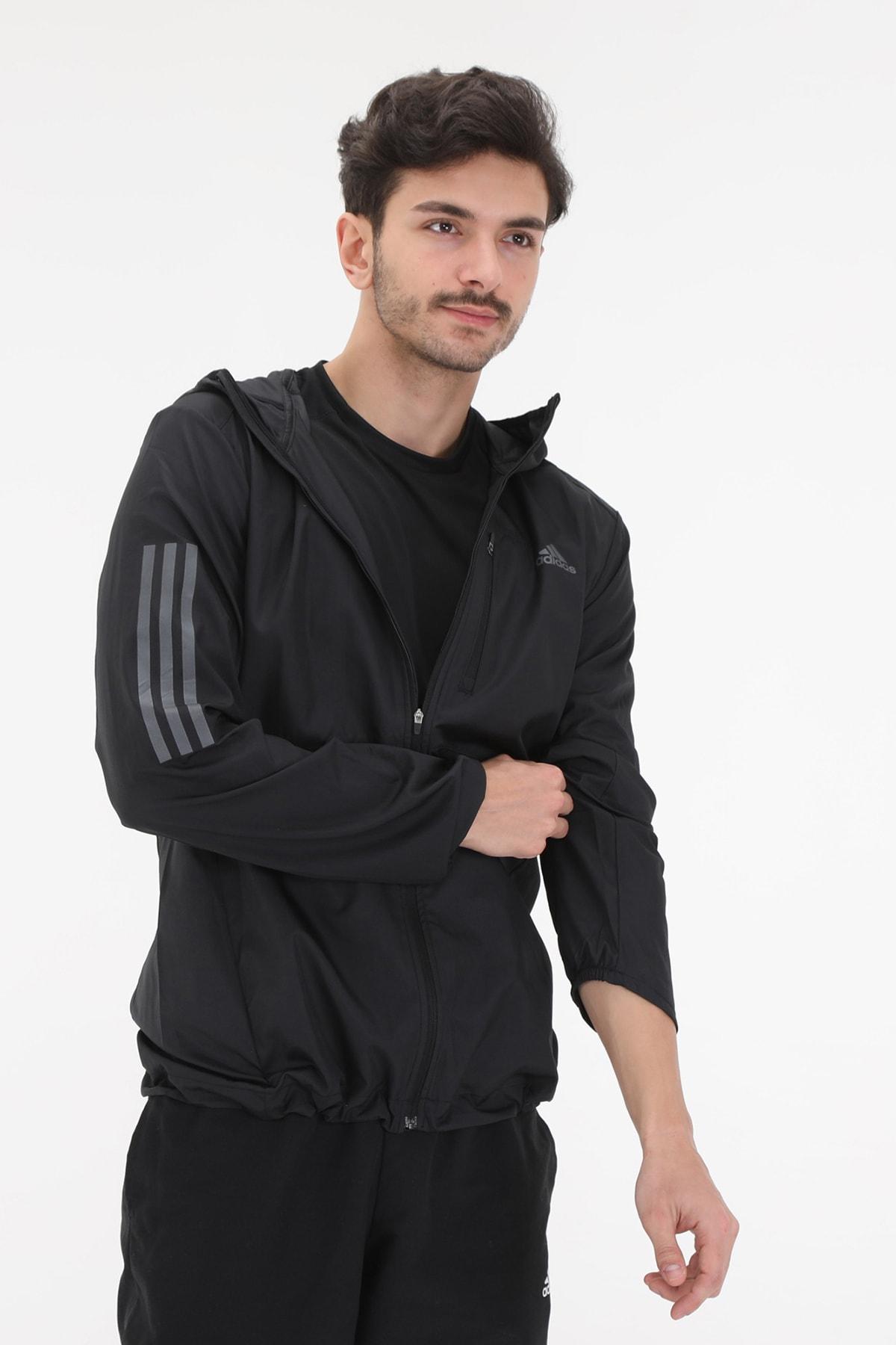 adidas FL6964-E adidas Own The Run Jkt Erkek Ceket Siyah