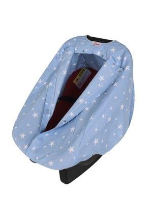 Sevi Bebe Anakucağı Örtüsü - Mavi Yıldızlı