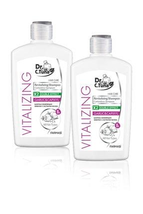 Farmasi 2'li Şampuan - Dr. C. Tuna Vitalizing Tüm Saçlar için Canlandırıcı Sarımsaklı Şampuan 500 ml
