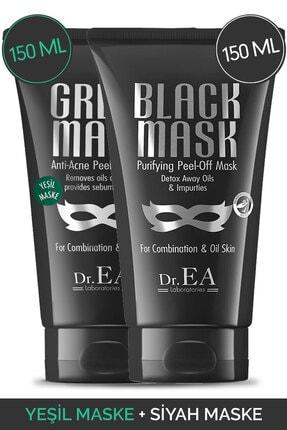 Dr. EA Laboratories Dr. Ea Soyulabilir Siyah Maske Ve Soyulabilir Yeşil Maske 2'li Özel Set