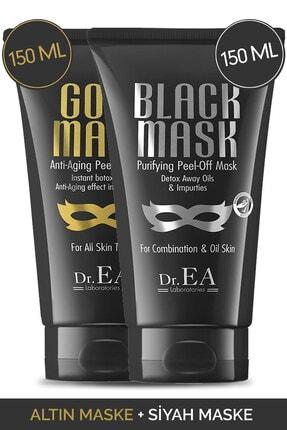 Dr. EA Laboratories Dr. Ea Soyulabilir Siyah Maske Ve Soyulabilir Altın Maske 2'li Özel Set