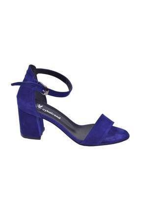 Ayakland 2013-05 Süet 7 Cm Topuk Bayan Sandalet Ayakkabı