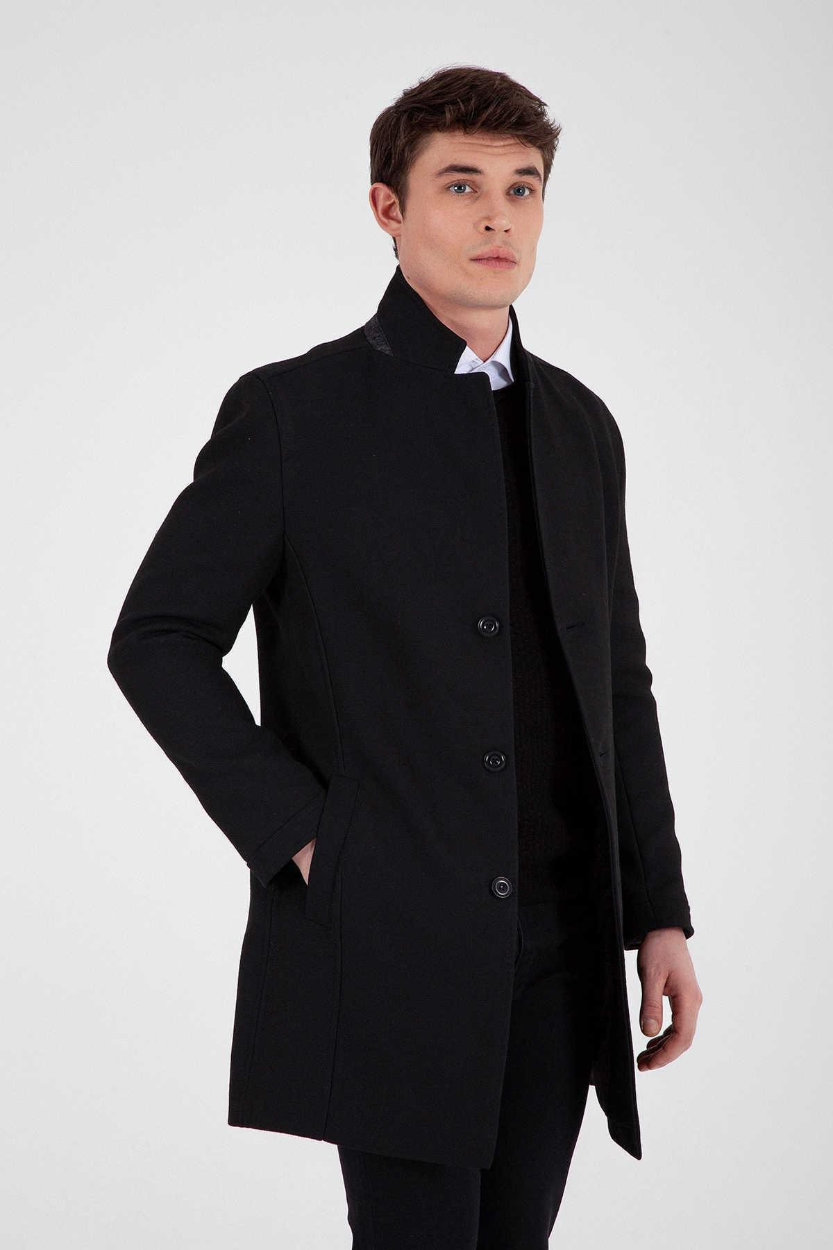 Hatemoğlu Siyah Basic  Palto 28203019A005