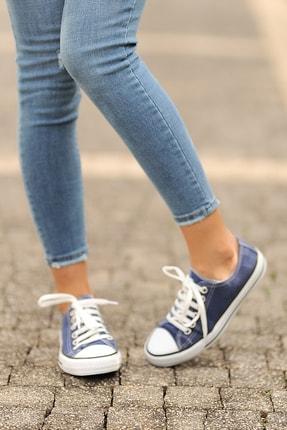 Pembe Potin Kot Mavi Kadın Casual Ayakkabı A3232-20