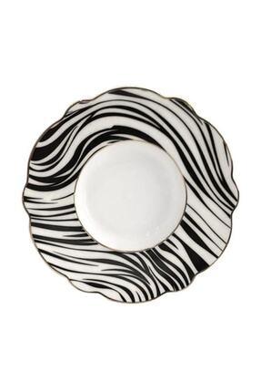 AROW Zebra Desen 6'lı Çay Tabak