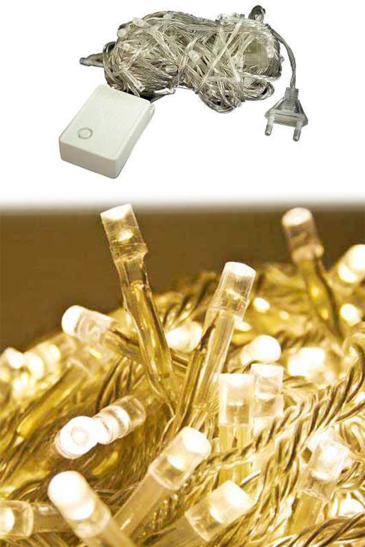 Parti dolabı 100 Ledli Fişli Led, Dekor Lambası 10m Günışığı