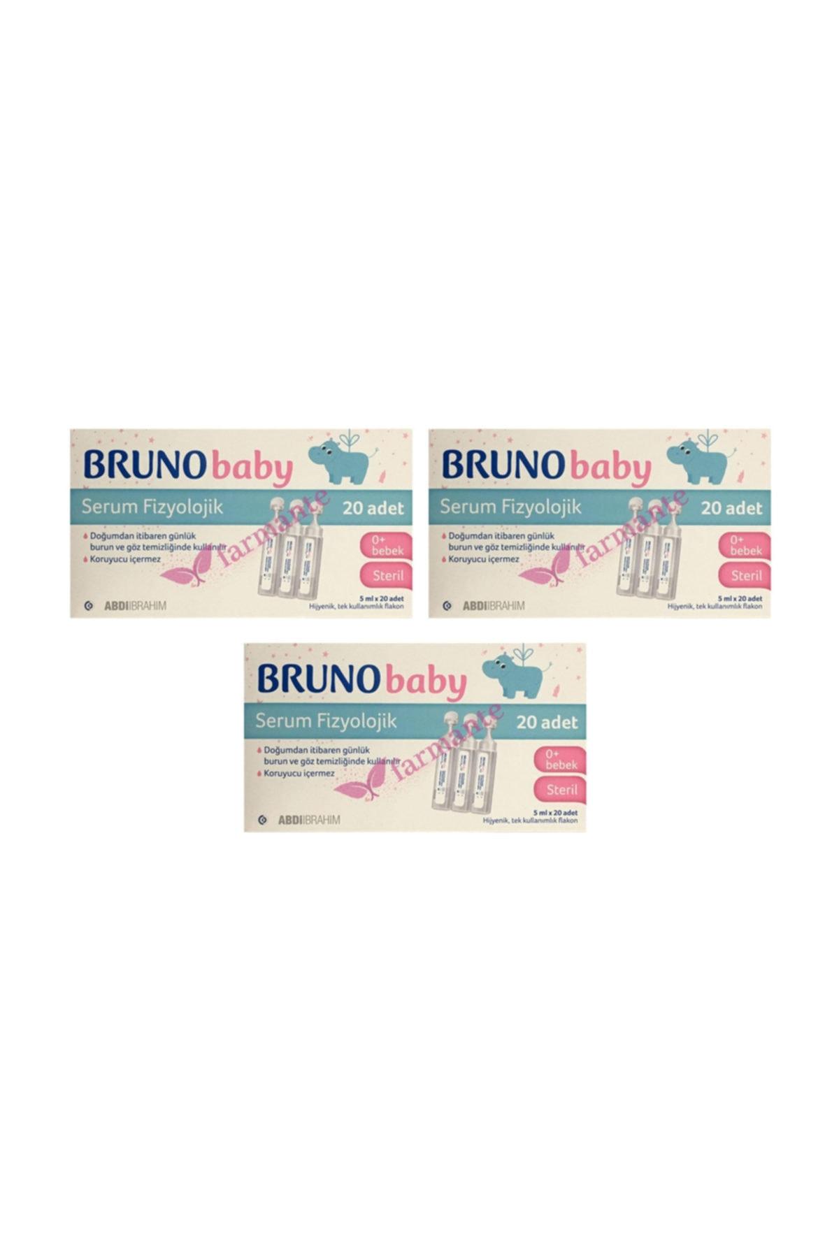 Bruno Baby Serum Fizyolojik Damla 3 Paket 5 Ml X 20 Adet 1