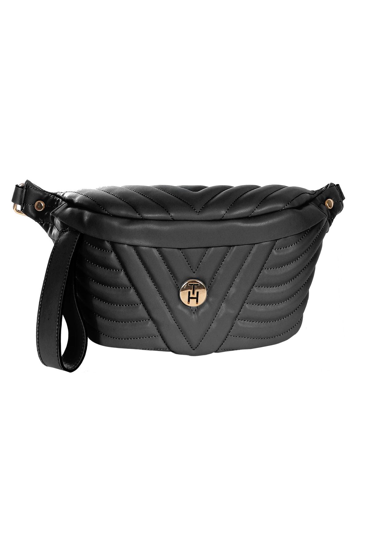 TH Bags Siyah Kadın Bel Çantası 0THCW2020328 1