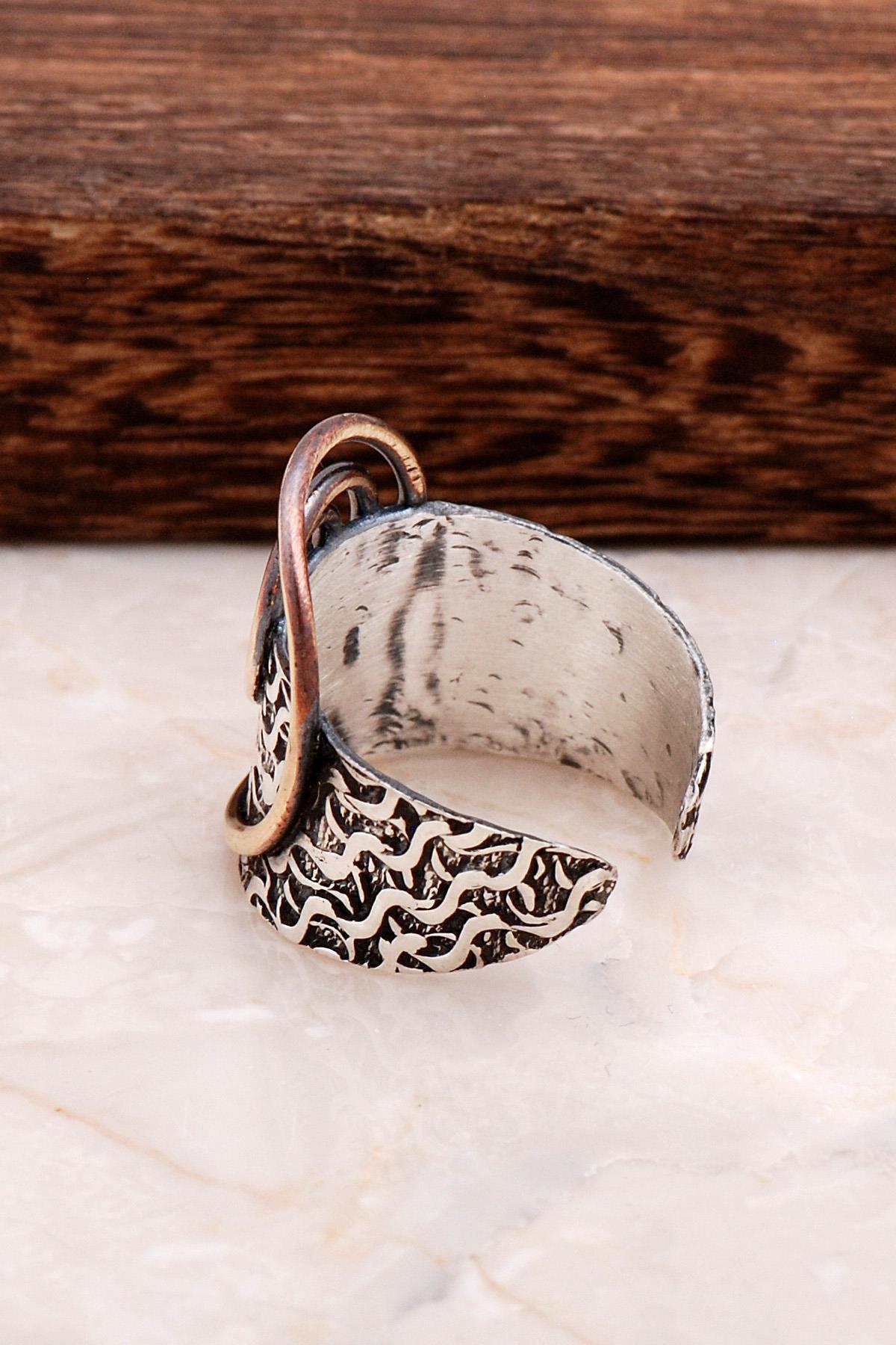 Sümer Telkari Çekiç Dövme El Yapımı Gümüş Yüzük 2887 2