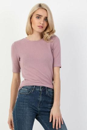 Colin's Slim Fit Mor Kadın Kısa Kol Tişört