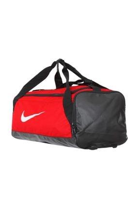 Nike Ba5957-657 Brasilia Small Duff 41l Saks Kırmızı Spor Çantası
