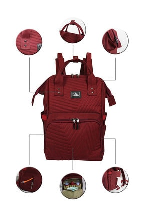 Stylo Tokyo Platinum All In One Special Edition Backpack-bordo