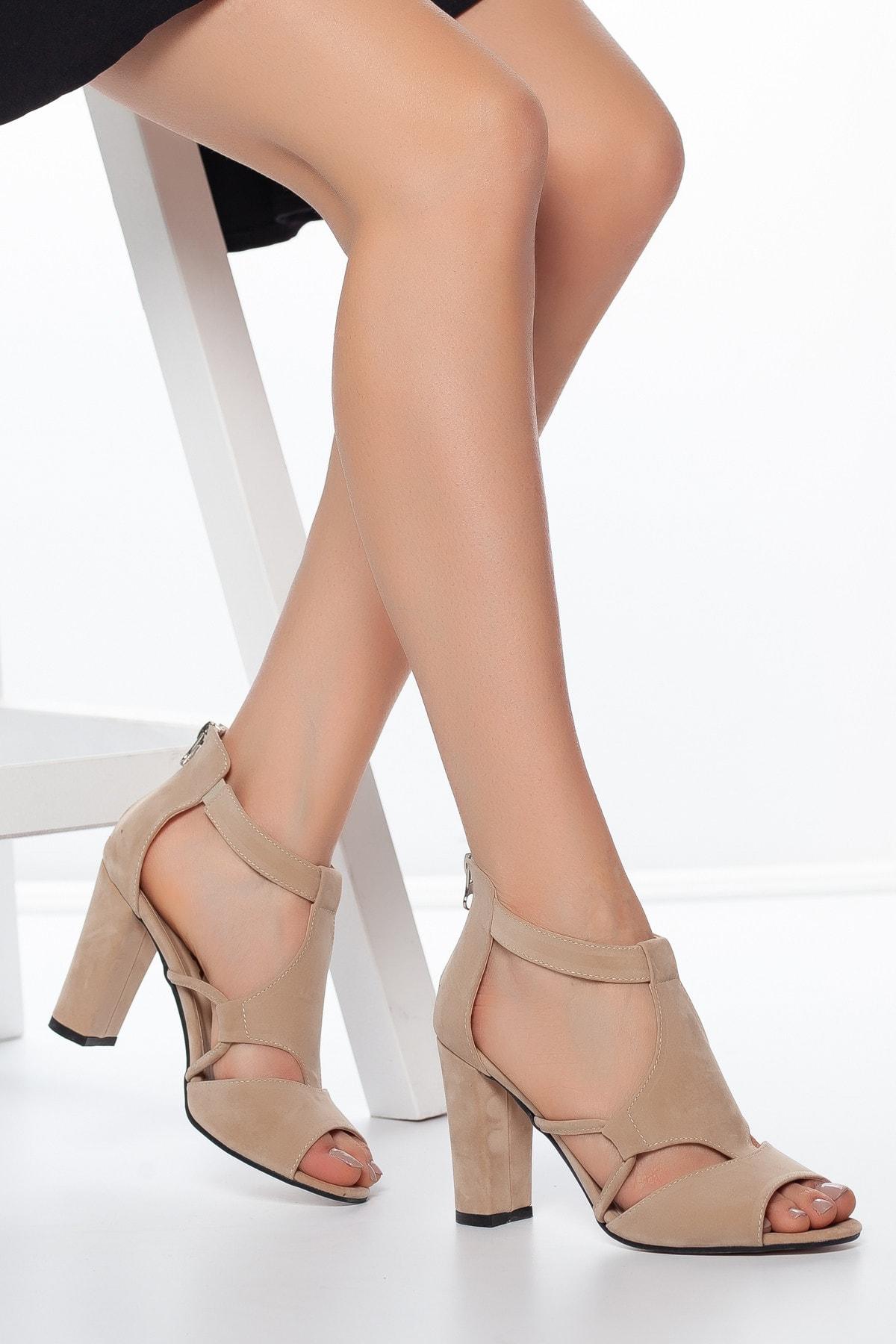 Daxtors Pudra-Süet Kadın Ayakkabı DXTRSAYŞĞ001 1