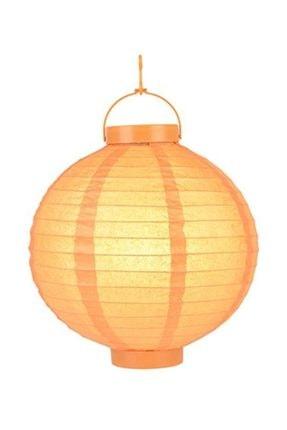 Pandoli 20 Cm Led Işıklı Kağıt Japon Feneri Turuncu Renk