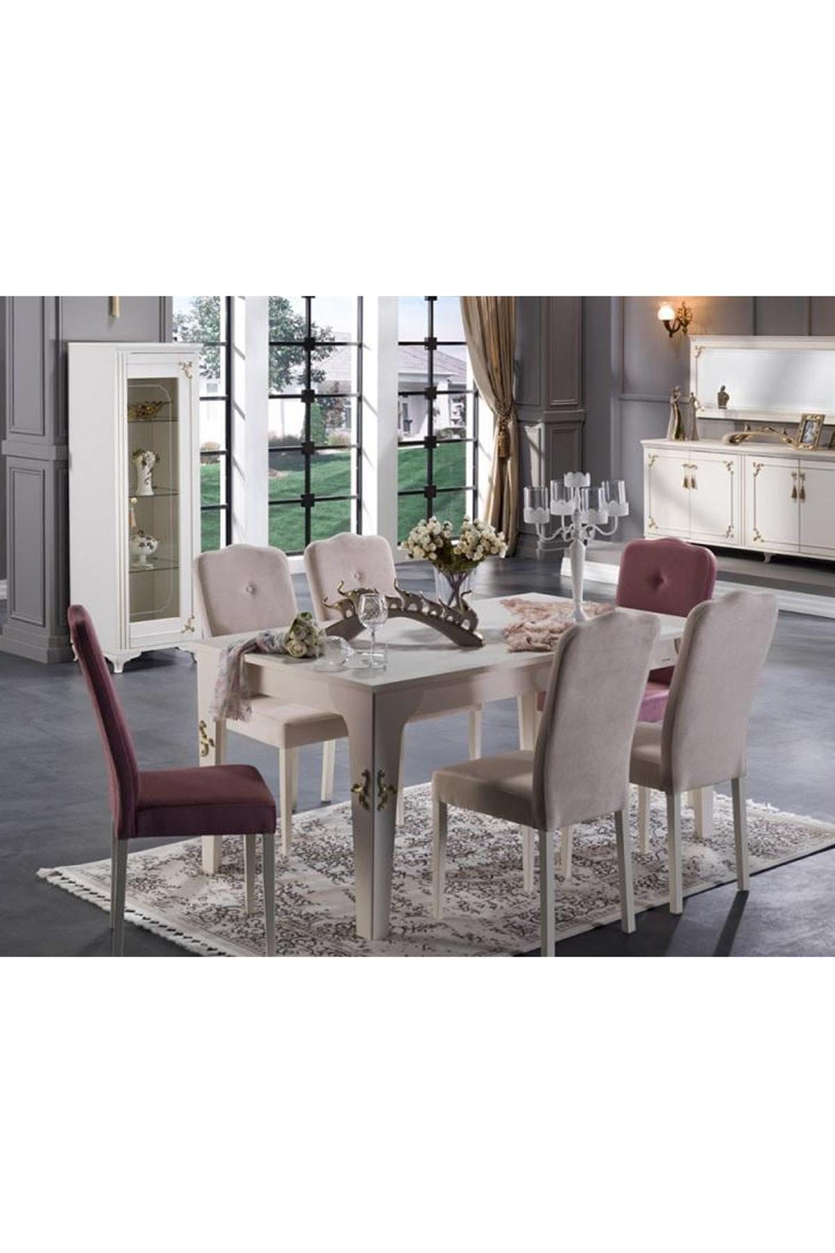 Bellona Valdes Yemek Masası Ve 6 Sandalye Takımı