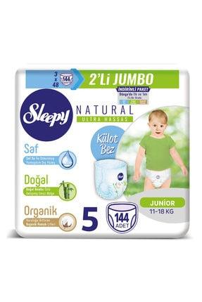 Sleepy Natural Külot Bez 5 Beden Junior 3x2'li Jumbo 144 Adet