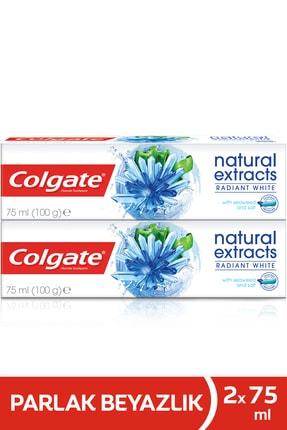 Colgate Diş Macunu Natural Extracts Deniz Yosunu Tuzu Parlak Beyazlık 75 ml X 2 Paket