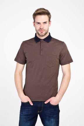 Kiğılı Erkek Orta Kahve Polo Yaka Regular Fit Tişört