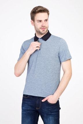 Kiğılı Erkek Koyu Lacivert Polo Yaka Regular Fit Desenli Tişört
