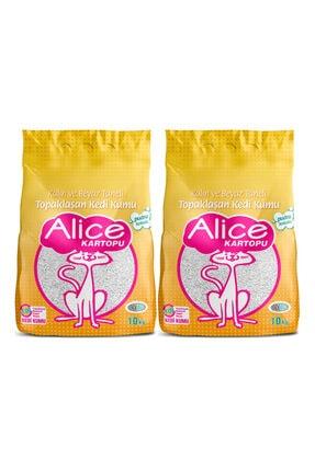 Alice Topaklaşan Kalın Taneli Pudra Kedi Kumu 2x10kg (23lt)