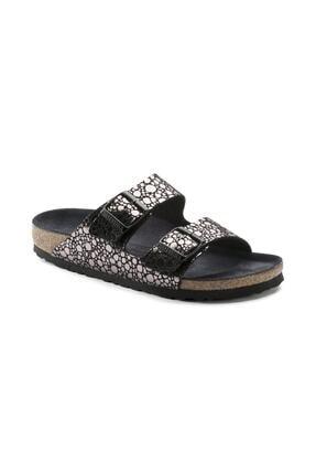 Birkenstock Unisex Metallic Stones Black Arizona Terlik  Sandalet