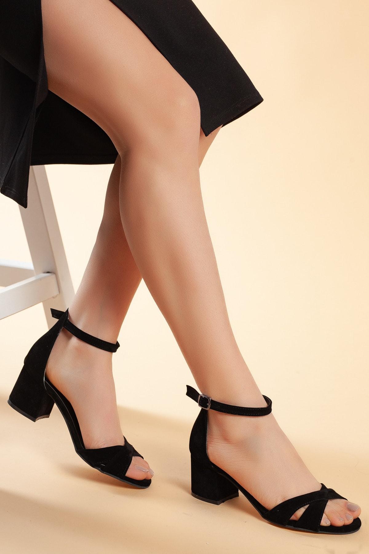Daxtors Siyah-Süet Kadın Ayakkabı DXTRFLRN204