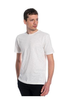Slazenger Sea Erkek T-shirt Kırık Beyaz